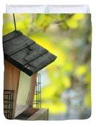 Bird Feeder Duvet Cover