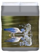 Bird Fishing In Lake Duvet Cover