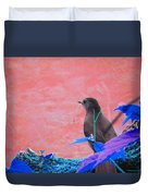 Bird In Abstract Duvet Cover