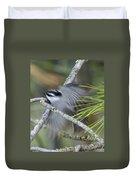 Bird In Action Duvet Cover
