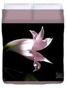Lovely Lilies Bird In Flight Duvet Cover