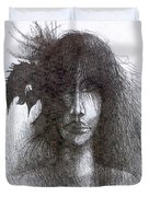 Bird In Hair  Duvet Cover