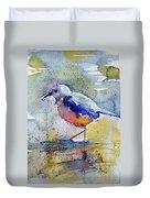 Bird In Lake Duvet Cover