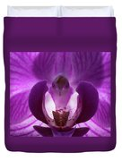 Bird In The Orchid Duvet Cover