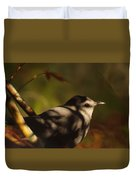 Bird In Tree With Young Leaf Duvet Cover