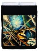 Bird In Winter Duvet Cover