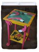 Barefootin' Table  Duvet Cover