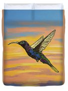 Bird Of Beauty, Superwoman Duvet Cover