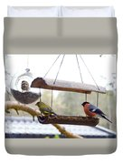 Bird Of Europe.norway Duvet Cover
