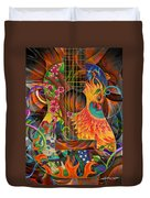 Bird Of Fire Guitar Duvet Cover