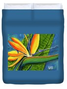 Bird Of Paradise #300b Duvet Cover