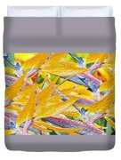 Bird Of Paradise Collage Duvet Cover