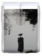 Bird On A Stump Duvet Cover