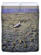 Bird On Beach Duvet Cover