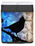 Bird On Branch Duvet Cover