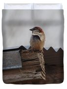 Bird On Roof Duvet Cover