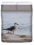 Bird On The Beach Duvet Cover