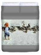 Bird Play Duvet Cover