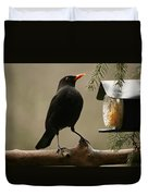 Bird Table Duvet Cover