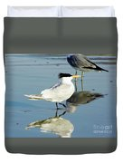 Bird - Tern - Reflection Duvet Cover