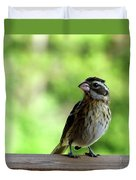 Bird With Punk Attitude Duvet Cover
