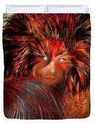 Bird Woman Duvet Cover