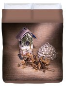 Birdhouse And Beehive 2 Duvet Cover