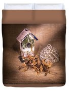 Birdhouse And Behive 1 Duvet Cover