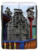 Birdhouses For Colorful Birds 4 Duvet Cover