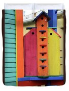 Birdhouses For Colorful Birds 5 Duvet Cover