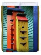 Birdhouses For Colorful Birds 6 Duvet Cover