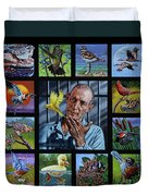 Birdman Of Alcatraz Duvet Cover