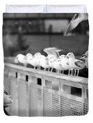 Birdman Of Lower Manhattan Duvet Cover