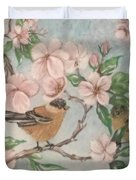 Birds And Blossoms Duvet Cover
