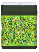 Birds And Bugs Duvet Cover