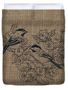Birds And Burlap 1 Duvet Cover