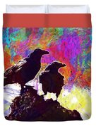 Birds Crow Black  Duvet Cover