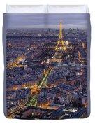 Bird's Eye On Paris 1 Duvet Cover