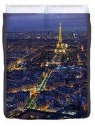Bird's Eye On Paris 2 Duvet Cover