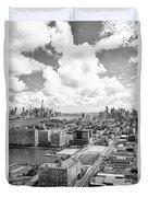 Bird's Eye View Hoboken Nj Duvet Cover