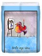 Birds Eye View Duvet Cover