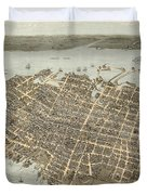 Birds Eye View Of Charleston Duvet Cover