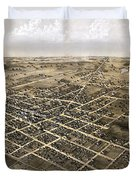 Birds Eye View Of The City Of Coldwater, Michigan - 1868 Duvet Cover