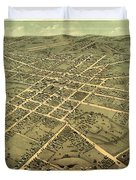 Bird's Eye View Of The City Of Huntsville, Madison County, Alabama 1871 Duvet Cover