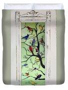 Birds In The Tree Framed Duvet Cover