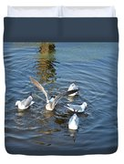 Birds Of A Feather Flock Together Duvet Cover