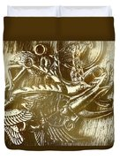 Birds Of Metal Duvet Cover