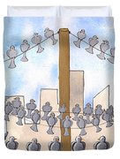 Birds On A Wire Duvet Cover