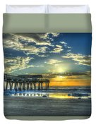 Birds On The Roof Sunrise Tybee Island Duvet Cover