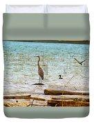 Birds Reflections Duvet Cover